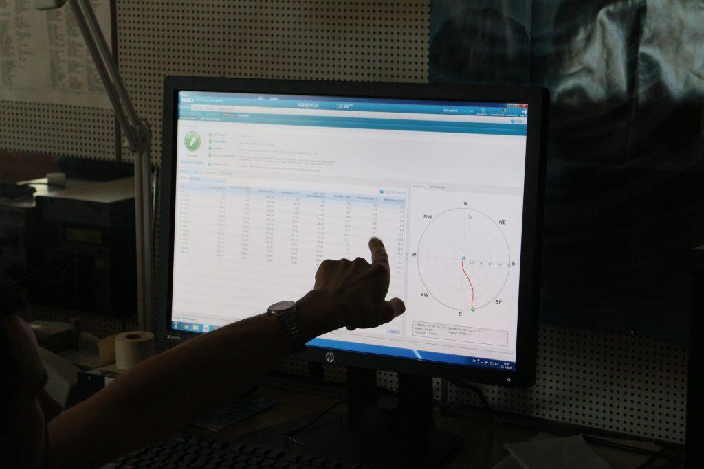 Namerané údaje z rádiosondy Vaisala RS41-SGP (Autor: Martin Šturcel)